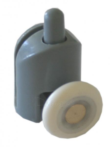 Ratukas dušo kabinos durims fiksuojamas apatinis 25mm Paveikslėlis 1 iš 2 270790100100