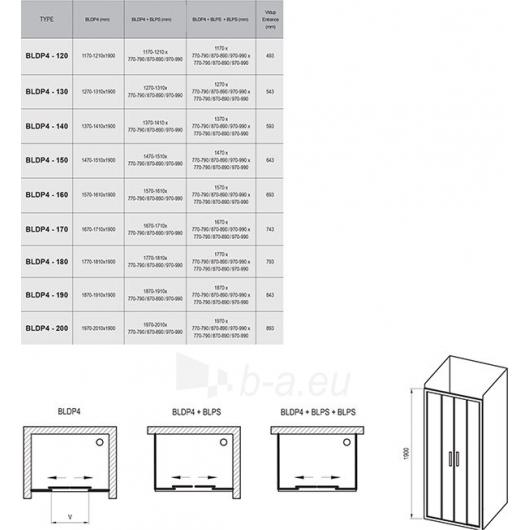 Ravak Dušo durys Blix BLDP4 1900X1900 Paveikslėlis 6 iš 6 270730001120