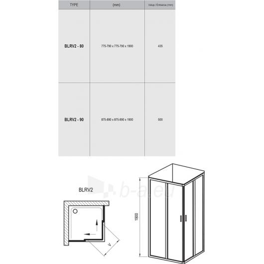 Ravak Shower enclosures Blix BLRV2 800X1900 Paveikslėlis 5 iš 5 270730001130