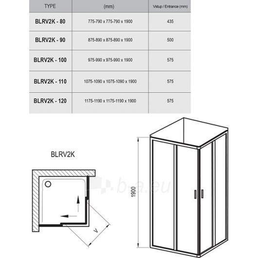 Ravak Dušo kabina Blix BLRV2K+BLRV2K 900x1900 Paveikslėlis 5 iš 5 270730001136