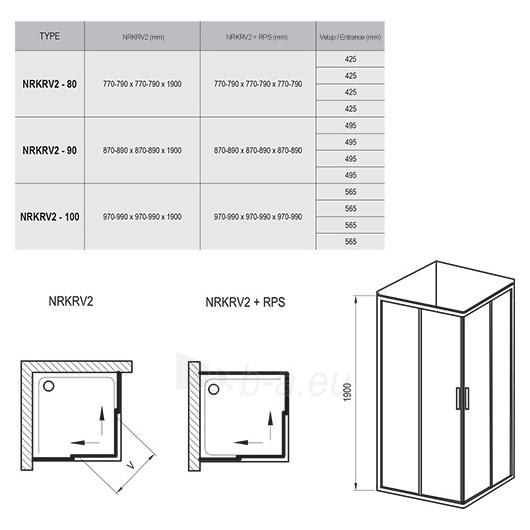 Ravak Shower enclosures Rapier NRKRV2 1000X1900 Paveikslėlis 6 iš 6 270730001140