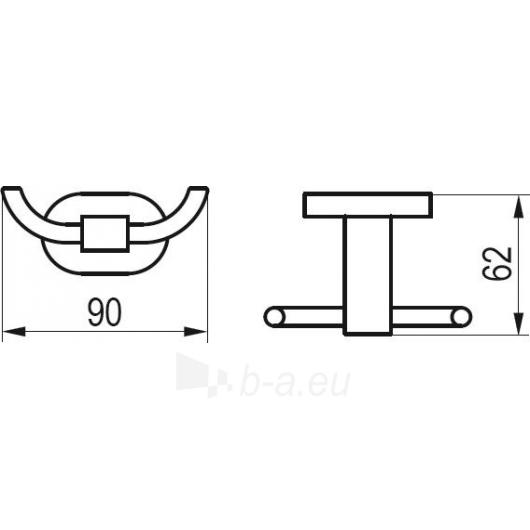 Ravak dvigubas kabliukas, CR 100.00 Paveikslėlis 2 iš 2 270717000961