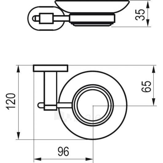 Ravak Muilinė su laikikliu (stiklas), CR200.00 Paveikslėlis 2 iš 2 270717001023