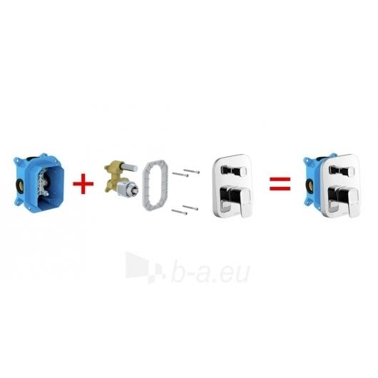 Ravak potinkinis maišytuvas 10° su jungikliu, skirtas R-box TD 0 Paveikslėlis 2 iš 3 270725000396