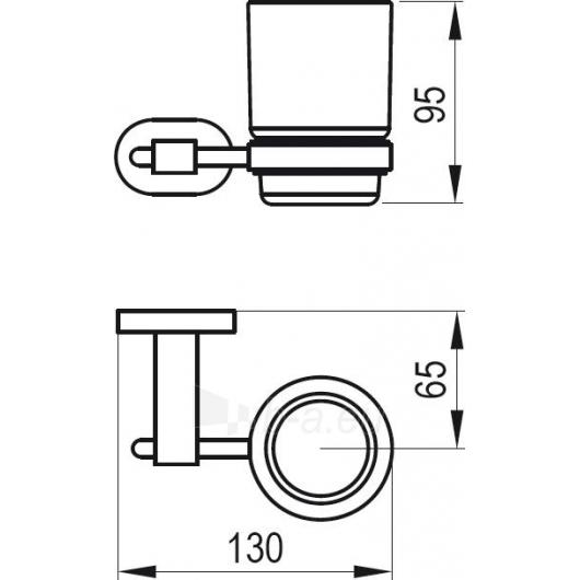 Ravak stiklinė su laikikliu (stiklas), CR210.00 Paveikslėlis 2 iš 2 270717000965