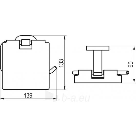 Ravak tualeto popieriaus laikiklis, CR 400.00 Paveikslėlis 2 iš 2 270717001027