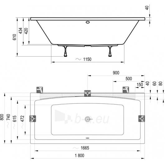 Ravak vonia Formy 02 180x80 Paveikslėlis 2 iš 4 310820126623