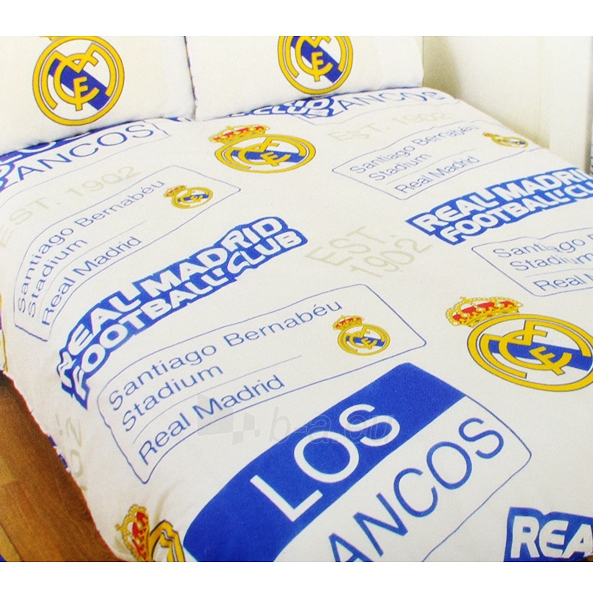 Real Madrid C.F. dvigulės patalynės komplektas (Su pavadinimu) Paveikslėlis 1 iš 2 251009001533