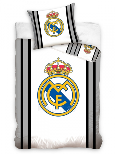 Real Madrid C.F. patalynės komplektas (Pilkas dryžuotas) Paveikslėlis 1 iš 2 251009001585