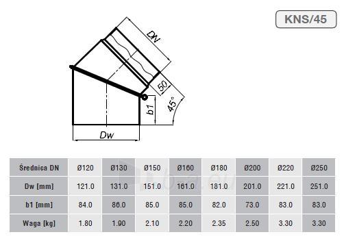 Reguliuojama alkūnė 180/45 be pravalos, pilka Paveikslėlis 2 iš 2 310820161628