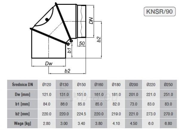 Reguliuojama alkūnė 180/90 su pravala, pilka Paveikslėlis 2 iš 2 310820161635