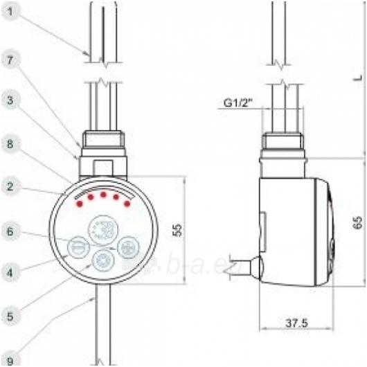 Reguliuojamas elektrinis kaitinimo elementas MEG 1.0+ trišakis Paveikslėlis 2 iš 10 270652000085