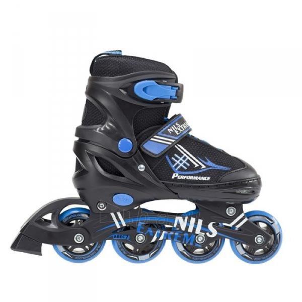 Skrituļslidas - slidas 2in1 Nils Extreme Black/Blue NH7104 30-33 Paveikslėlis 1 iš 3 310820226249