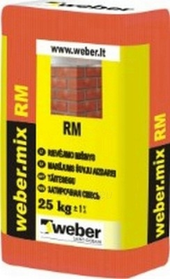 Rievėjimo mišinys weber.mix RM 149 LT, rudas 25 kg Paveikslėlis 1 iš 1 236750000045
