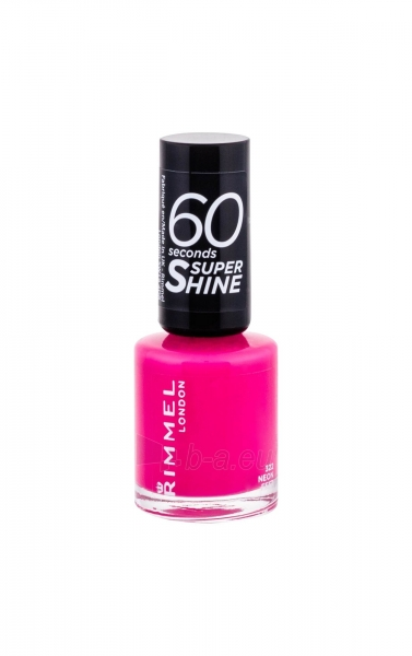Rimmel London 60 Seconds Nail Polish By Rita Ora Cosmetic 8ml 322 Neon Fest Paveikslėlis 2 iš 2 250874000977
