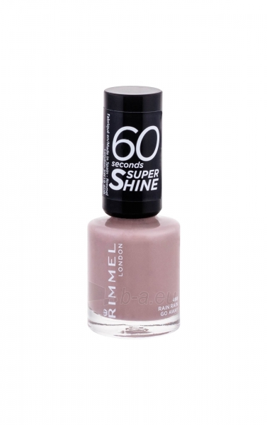 Rimmel London 60 Seconds Nail Polish By Rita Ora Cosmetic 8ml 498 Rain Rain Go Away Paveikslėlis 2 iš 2 250874000980