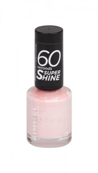 Rimmel London 60 Seconds Super Shine Nail Polish Cosmetic 8ml 203 Lose Your Lingerie Paveikslėlis 1 iš 2 250874000985