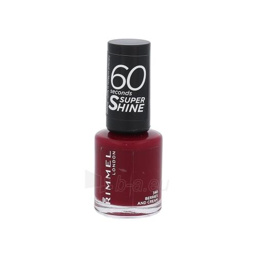 Rimmel London 60 Seconds Super Shine Nail Polish Cosmetic 8ml 340 Berries And Cream Paveikslėlis 1 iš 1 250874001000