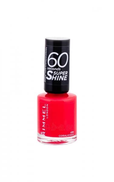 Rimmel London 60 Seconds Super Shine Nail Polish Cosmetic 8ml 430 Coralicious Paveikslėlis 2 iš 2 250874001004