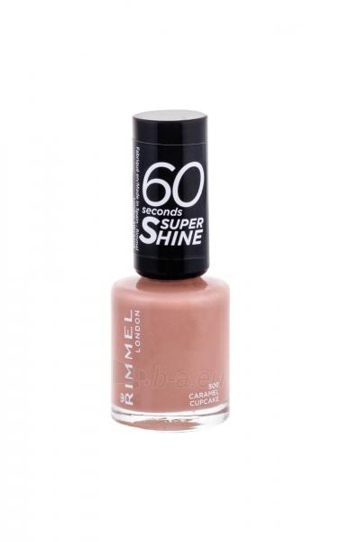 Rimmel London 60 Seconds Super Shine Nail Polish Cosmetic 8ml 500 Caramel Cupcake Paveikslėlis 2 iš 2 250874001005