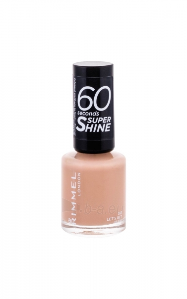 Rimmel London 60 Seconds Super Shine Nail Polish Cosmetic 8ml 513 Let´s Get Nude Paveikslėlis 2 iš 2 250874001006