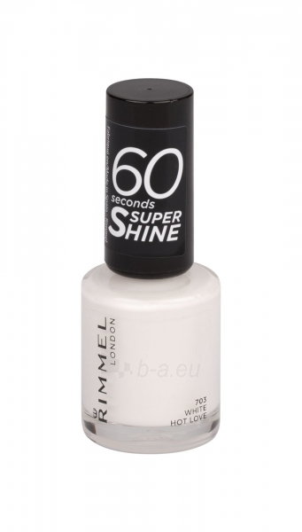 Rimmel London 60 Seconds Super Shine Nail Polish Cosmetic 8ml 703 White Hot Love Paveikslėlis 1 iš 2 250874001012
