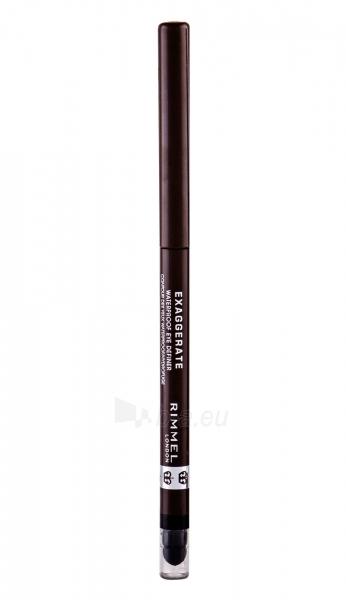 Rimmel London Exaggerate Waterproof Eye Definer Cosmetic 0,28g 212 Rich Brown Paveikslėlis 2 iš 2 2508713000328