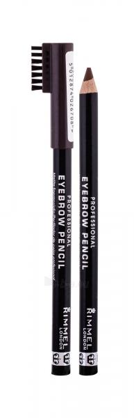 Rimmel London Eyebrow Pencil Cosmetic 1,4g 001 Dark Brown Paveikslėlis 2 iš 2 2508713000174