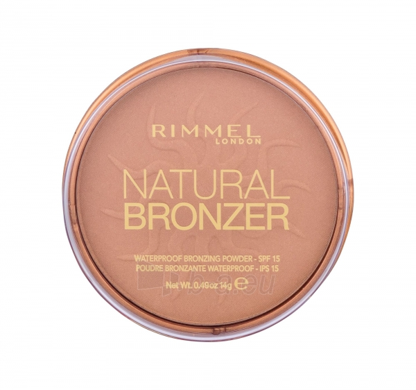 Rimmel London Natural Bronzer Waterproof Bronzing Powder SPF15 14g Nr.021 Paveikslėlis 2 iš 2 250873300427