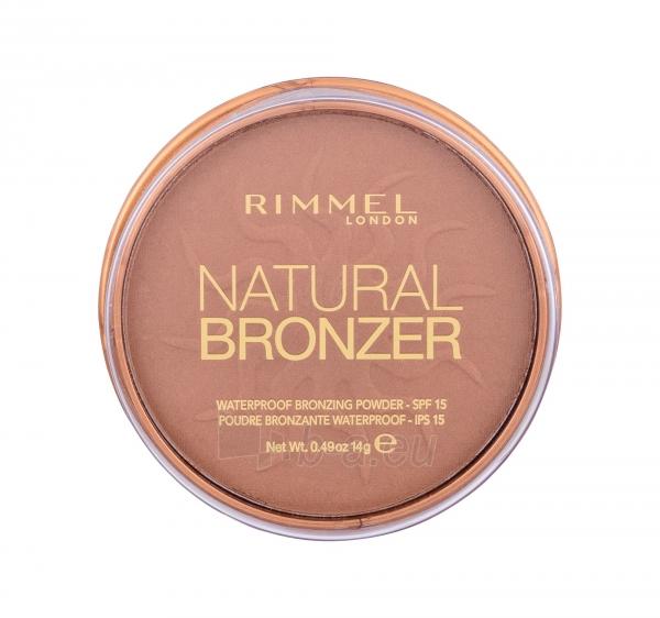 Rimmel London Natural Bronzer Waterproof Bronzing Powder SPF15 14g Nr.026 Paveikslėlis 2 iš 2 250873300426