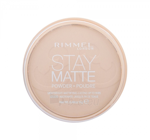 Rimmel London Stay Matte Long Lasting Pressed Powder 14g (003 Peach Glow) Paveikslėlis 2 iš 2 250873300278