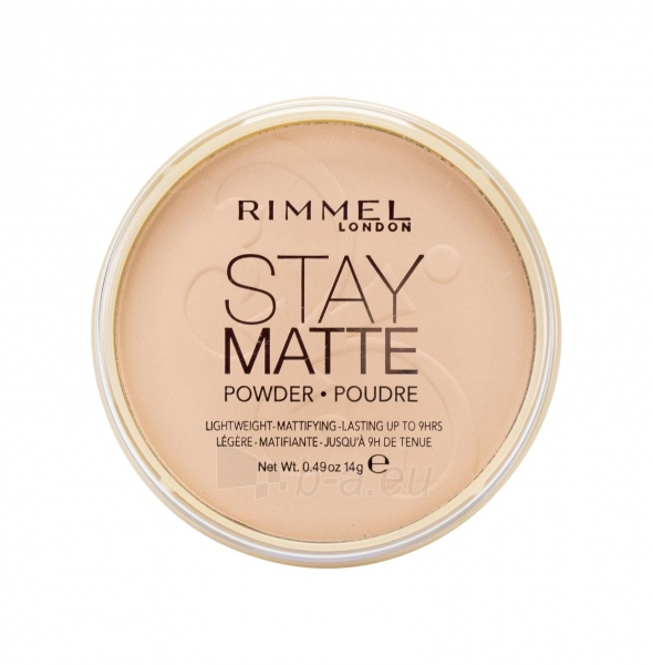 Rimmel London Stay Matte Long Lasting Pressed Powder 14g (005 Silky Beige) Paveikslėlis 2 iš 2 250873300275