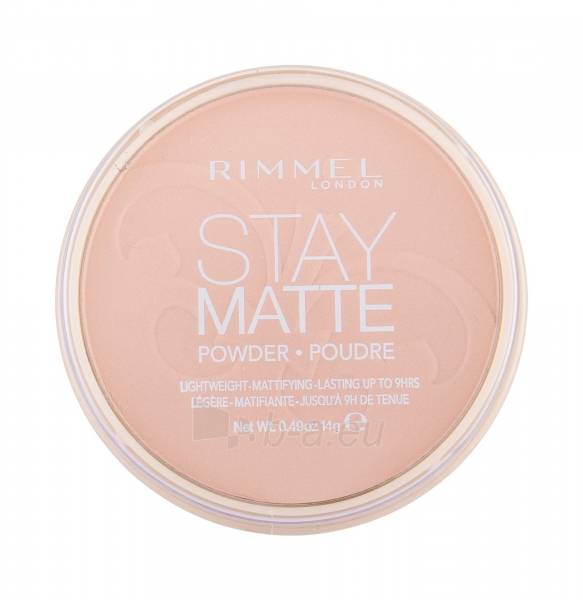 Rimmel London Stay Matte Long Lasting Pressed Powder 14g (009 Amber) Paveikslėlis 2 iš 2 250873300400