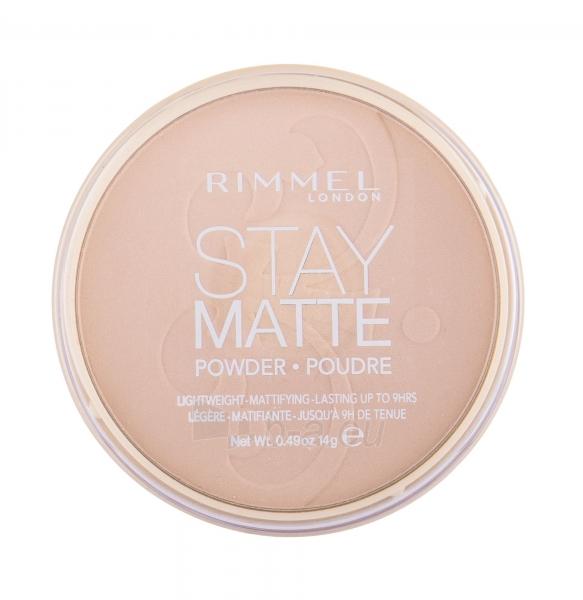 Rimmel London Stay Matte Long Lasting Pressed Powder 14g Mohair Paveikslėlis 2 iš 2 250873300397
