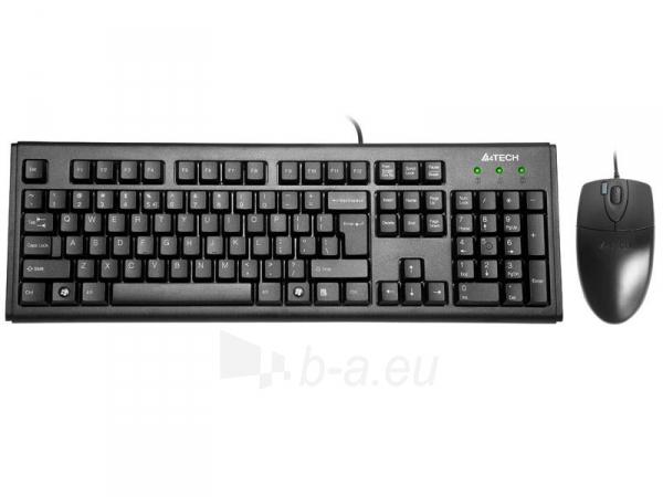 Rinkinys: klaviatūra + pelė A4-Tech KM-72620D USB, US Juoda Paveikslėlis 1 iš 4 250255701252