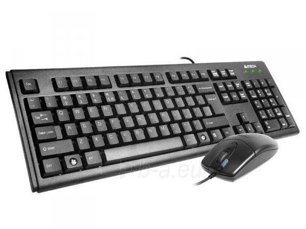 Rinkinys: klaviatūra + pelė A4-Tech KM-72620D USB, US Juoda Paveikslėlis 2 iš 4 250255701252