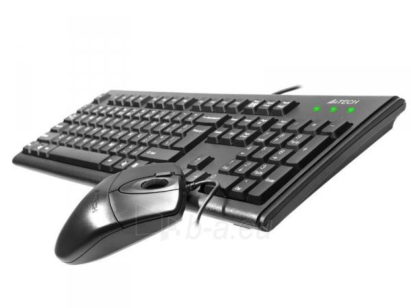 Rinkinys: klaviatūra + pelė A4-Tech KM-72620D USB, US Juoda Paveikslėlis 3 iš 4 250255701252
