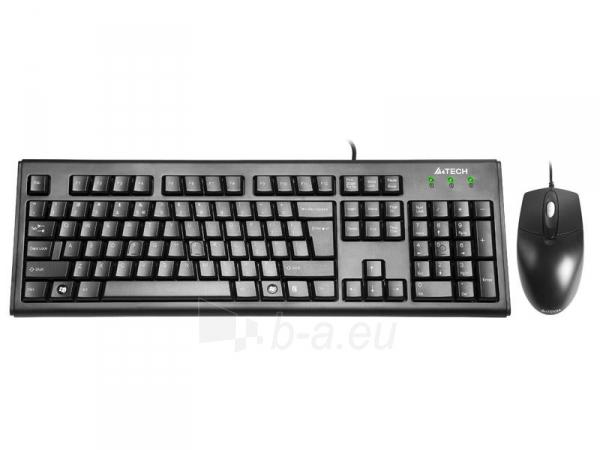 Rinkinys: klaviatūra pelė A4Tech KRS-8372 USB, US Juoda Paveikslėlis 1 iš 3 250255701100