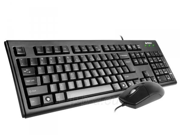 Rinkinys: klaviatūra pelė A4Tech KRS-8372 USB, US Juoda Paveikslėlis 2 iš 3 250255701100