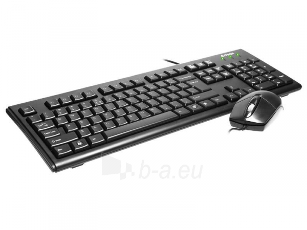 Rinkinys: klaviatūra pelė A4Tech KRS-8372 USB, US Juoda Paveikslėlis 3 iš 3 250255701100