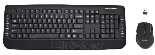 Rinkinys Esperanza EK120: Bevielė klaviatūra Pelė USB | 2.4 GHz Paveikslėlis 2 iš 7 250255701076