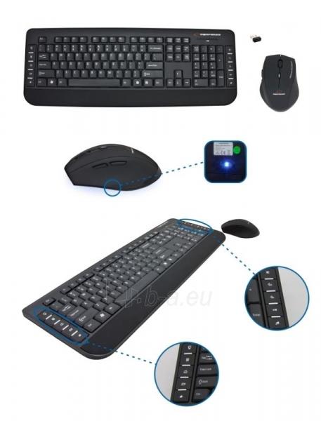 Rinkinys Esperanza EK120: Bevielė klaviatūra Pelė USB | 2.4 GHz Paveikslėlis 3 iš 7 250255701076