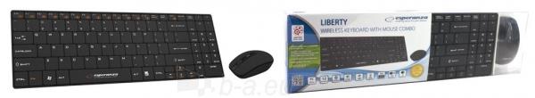 Rinkinys Esperanza EK122K: Bevielė klaviatūra Pelė USB | 2.4 GHz Paveikslėlis 6 iš 6 250255701077