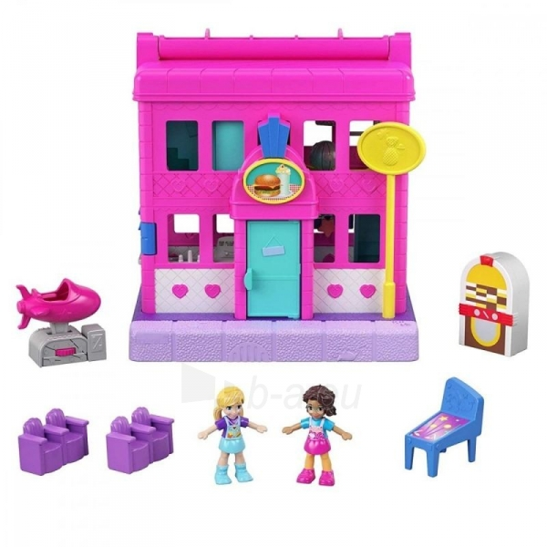 Rinkinys GGC29 Mattel Figures set Polly Pocket Pollyville Arcade Playset Paveikslėlis 3 iš 6 310820230594