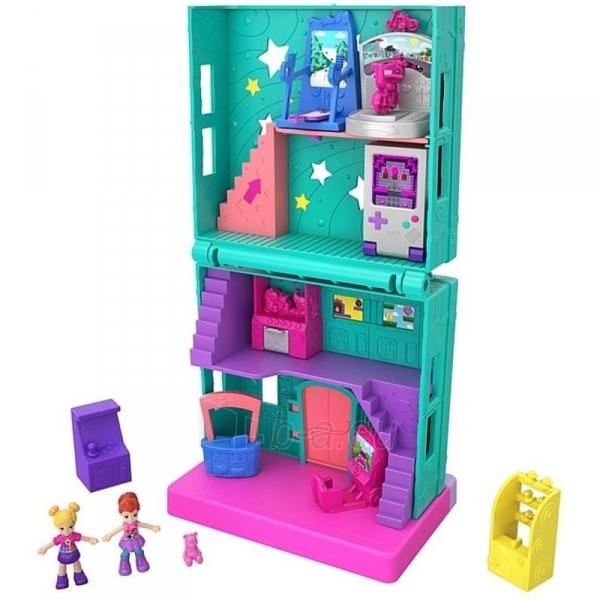 Rinkinys GGC29 Mattel Figures set Polly Pocket Pollyville Arcade Playset Paveikslėlis 5 iš 6 310820230594