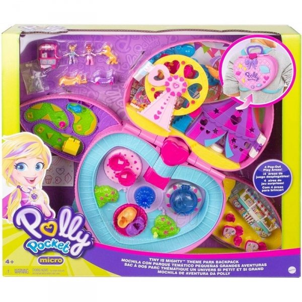 Rinkinys GKL60 Mattel Polly Pocket Tiny Is Mighty Theme Park Backpack Paveikslėlis 1 iš 6 310820230603