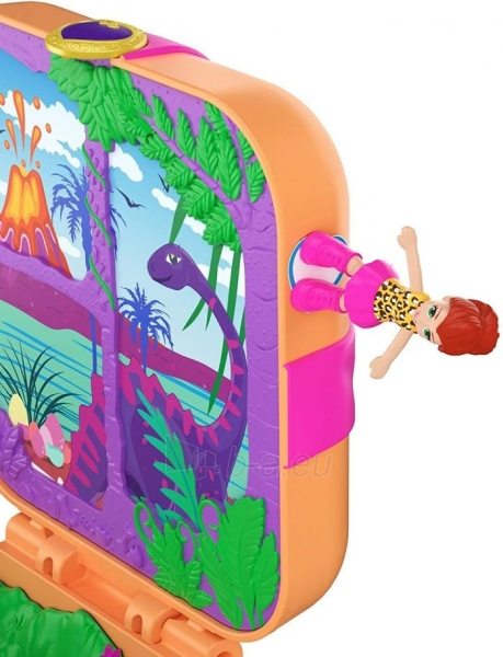 Rinkinys GKV10 / GDK76 Polly Pocket Hidden Hideouts Lila Dino Discovery Compact Hidden Hideouts and Reveals Paveikslėlis 4 iš 5 310820230703