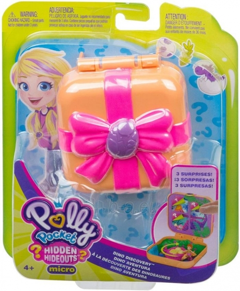 Rinkinys GKV10 / GDK76 Polly Pocket Hidden Hideouts Lila Dino Discovery Compact Hidden Hideouts and Reveals Paveikslėlis 5 iš 5 310820230703