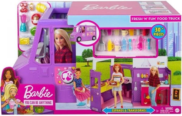 Rinkinys GMW07 Barbie®Food Truck with Multiple Play Areas & 30+ Realistic Play Pieces Paveikslėlis 2 iš 6 310820230591