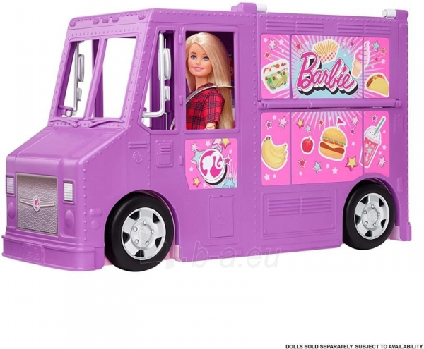 Rinkinys GMW07 Barbie®Food Truck with Multiple Play Areas & 30+ Realistic Play Pieces Paveikslėlis 3 iš 6 310820230591